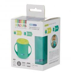 Чашка-поильник Bebe Due 2 в 1, с 18 месяцев, цвет: бирюзовый