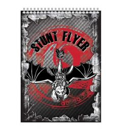 Блокнот клетка А5 40 листов Action Dragons на гребне уф-лак Stunt Flyer