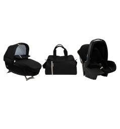 Набор для трансформации Peg-Perego Люлька Navetta Elite + автокресло Primo Viaggio Tri-Fix + сумка Borsa, цвет: черный