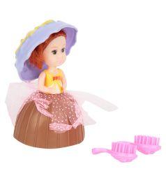 Кукла Игруша в стакане мороженого цвет: коричневый