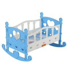 Кроватка для кукол Полесье №2, голубая 29 см