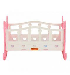 Кроватка для кукол Полесье №2, розовая 29 см