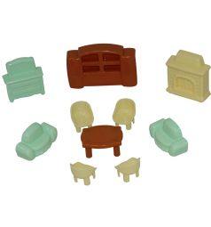 Мебель для кукол Полесье №3, 10 предметов