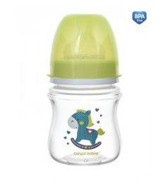 Бутылочка Canpol Easy Start с широким горлом антиколиковая полипропилен с рождения, 120 мл, цвет: зеленый
