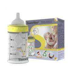 Бутылочка Sweeslee Classic классическая с одноразовыми контейнерами полипропилен с рождения, 90 мл, цвет: прозрачный