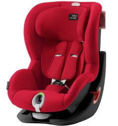 Автокресло Britax Romer King II LS Black Series, цвет: fire red