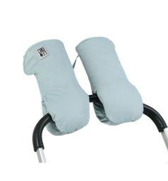 Муфты-варежки Leokid для коляски Slate, цвет: бирюзовый/серый