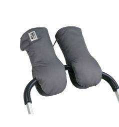 Муфты-варежки Leokid для коляски Magnet, цвет: серый/черный