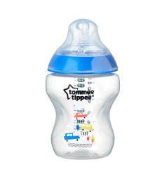 Бутылочка Tommee Tippee Closer to nature антиколиковая пластик с рождения, 260 мл, цвет: синий