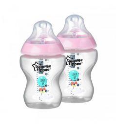Бутылочка Tommee Tippee Closer to nature антиколиковая пластик с рождения, 260 мл, цвет: розовый