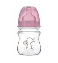 Бутылочка Canpol Little Cutie антиколиковая полипропилен с рождения, 120 мл, цвет: розовый