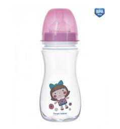 Бутылочка Canpol Toys антиколиковая полипропилен с 12 месяцев, 300 мл, цвет: розовый