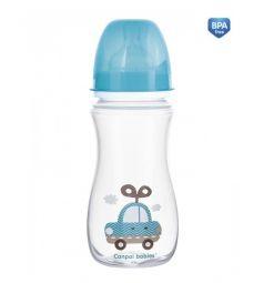 Бутылочка Canpol Toys антиколиковая полипропилен с 12 месяцев, 300 мл, цвет: голубой