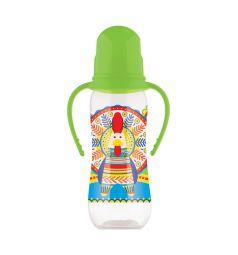 Бутылочка Lubby Русские мотивы антиколиковая полипропилен с рождения, 240 мл, цвет: зеленый