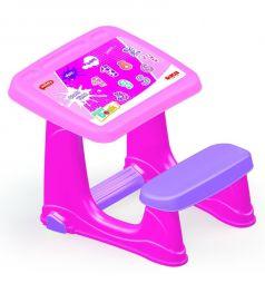 Парта Dolu со скамейкой, цвет: розовый