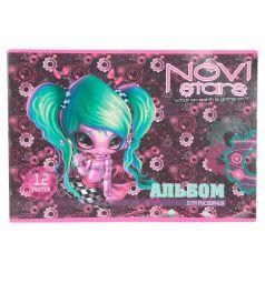 Альбом для рисования А4 12л Action Novi Stars уф-лак волосы зеленые