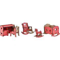 Набор мебели для кукол Большой Слон Волшебный 3D-город Детская