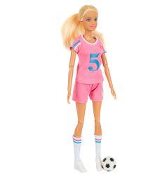 Кукла Defa Футболистка в розовом 26 см