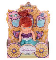 Кукла Игруша Princess Рыжая в фиолетово-голубом платье