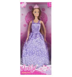 Кукла Anlily Невеста Борюнетка в сиреневом платье 29 см