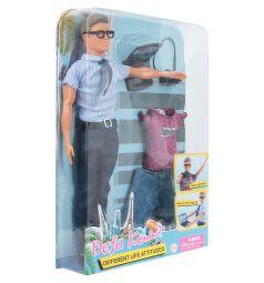 Кукла Defa в голубой рубашке с аксессуарами 28 см