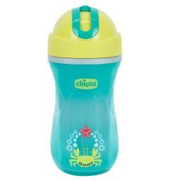 Чашка-поильник Chicco Sport Cup с трубочкой, с 14 месяцев, цвет: красный/зеленый