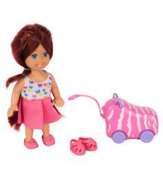 Игровой набор Игруша Кукла с сиреневым чемоданом 11 см