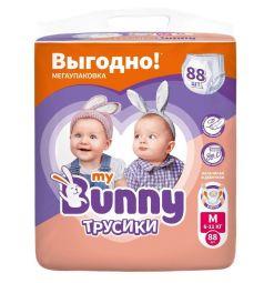 Трусики-подгузники My Bunny Детские (6-11 кг) 88 шт.