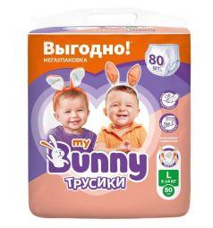 Трусики-подгузники My Bunny Детские (9-14 кг) 80 шт.