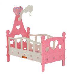 Кроватка для кукол Полесье №3, цвет: розовый 31 см