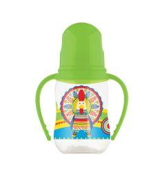 Бутылочка Lubby Русские мотивы для кормления полипропилен с рождения, 120-125 мл, цвет: салатовый