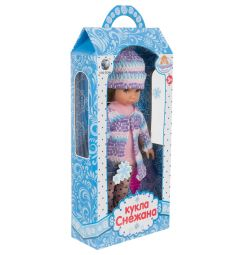 Кукла Tongde Снежана, цвет: розовый/фиолетовый 25 см