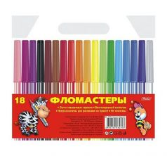 Фломастеры Hatber Игрушки-зверюшки (18 цв)