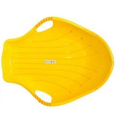 Санки Пластик Снежный скат, цвет: желтый