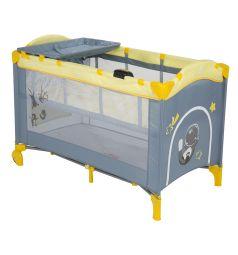 Манеж-кровать Capella Sweet Time Cosmocats, цвет: желтый/серый