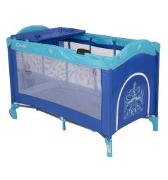 Манеж-кровать Capella Sweet Time Whale/Dinosaur, цвет: синий