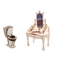 Мебель для кукол Большой Слон Мечта Туалетная комната
