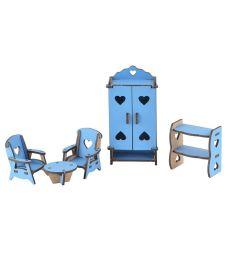 Мебель для кукол Большой Слон Волшебный 3D город Гостинная