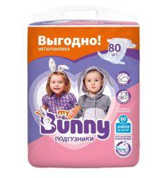 Подгузники My Bunny с канальцами Junior (11-18 кг) 80 шт.