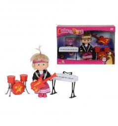 Кукла Simba Маша в рок-нарядке с музыкальными инструментами