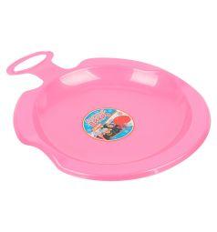 Санки Пластик Снежный вихрь, цвет: розовый