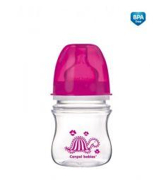Бутылочка Canpol Colourful animals антиколиковая полипропилен с 3 месяцев, 120 мл, цвет: малиновый