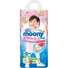 Трусики Moony для девочек (13-25 кг) 26 шт.