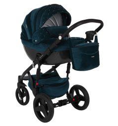 Коляска-люлька для новорожденного Adamex Monte Carbon, цвет: синий