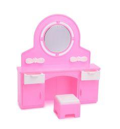 Мебель для кукол Огонек Трюмо с пуфиком