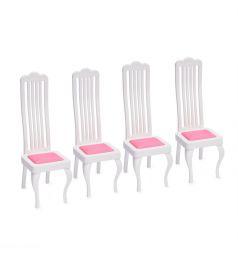 Мебель для кукол Огонек Стулья, 4 шт.