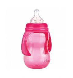 Бутылочка Nuby полипропилен с рождения, 300 мл, цвет: розовый