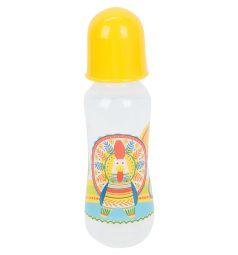Бутылочка Lubby Русские мотивы для кормления полипропилен с рождения, 250 мл, цвет: желтый
