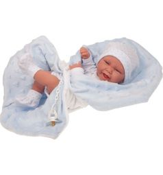 Кукла-младенец Juan Antonio Матео в голубом 42 см