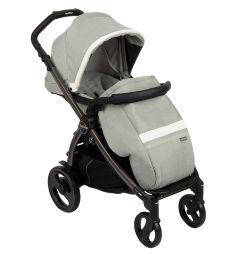 Прогулочная коляска Peg-Perego Book Plus Pop Up с шасси Book 51 Titania W/B, цвет: luxe pure